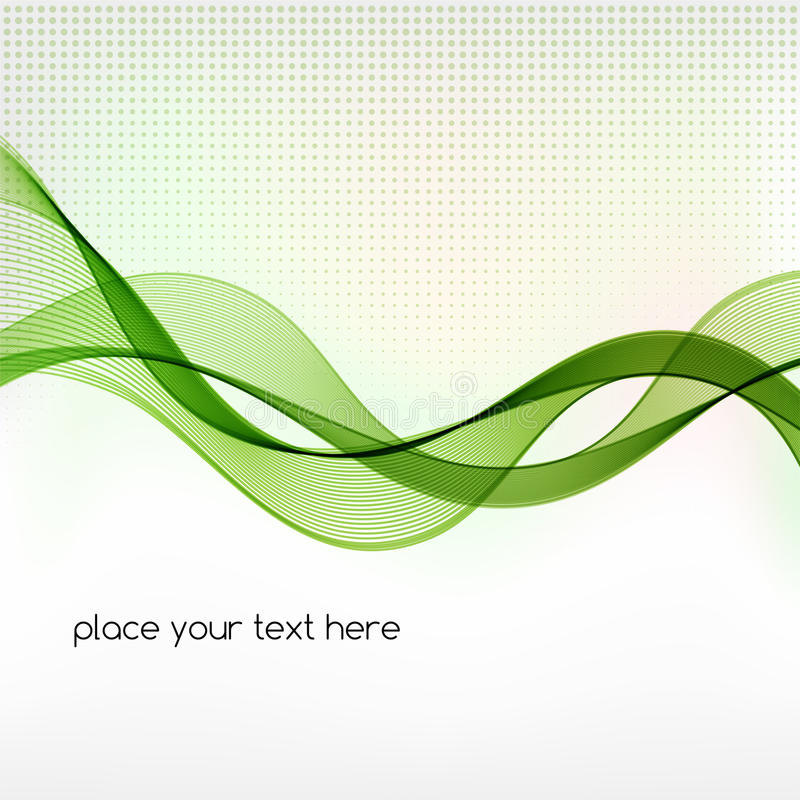 Grön bakgrund för rökvågabstrakt begrepp royaltyfri illustrationer