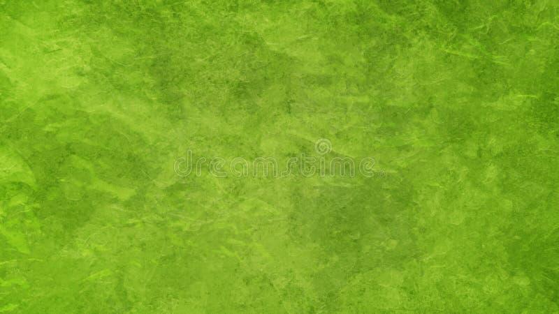 Grön bakgrund i lime-grön färg med vintage-stildesign med nöd och djup grunge arkivfoto