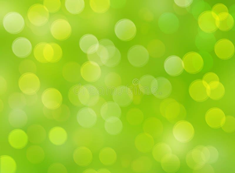 Grön bakgrund med defocused ljus för bokeh royaltyfri foto