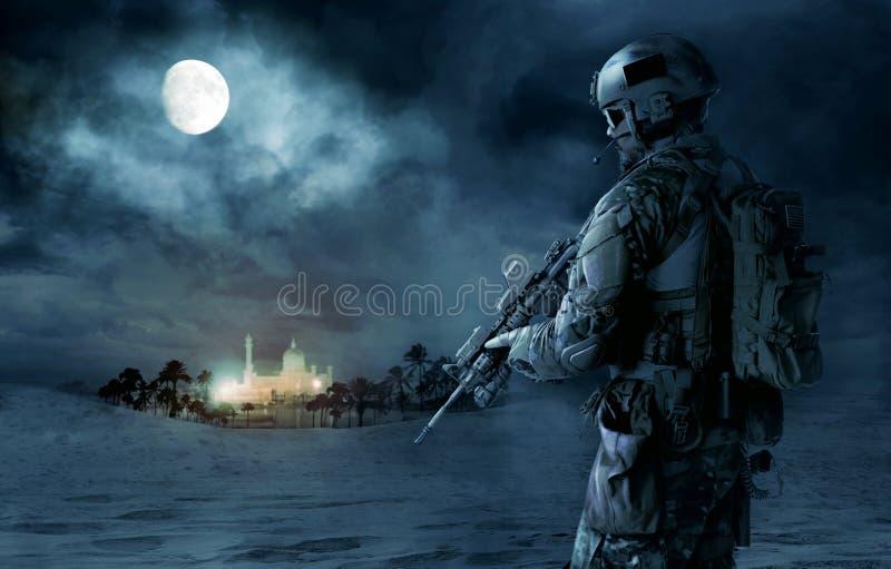 Grön basker för USA-armé royaltyfri fotografi