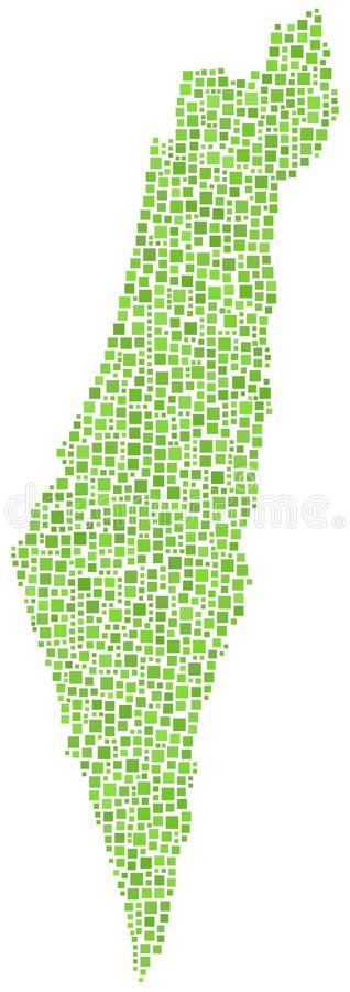 grön belagd med tegel israel översikt vektor illustrationer