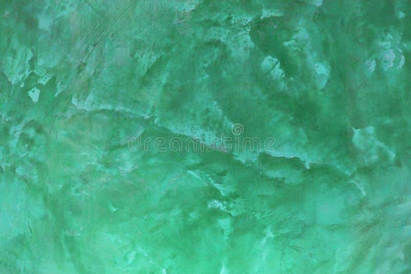 Grön betongväggbakgrund arkivbild