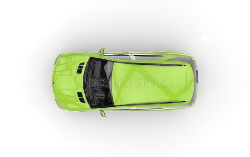 Grön bil- bästa sikt stock illustrationer