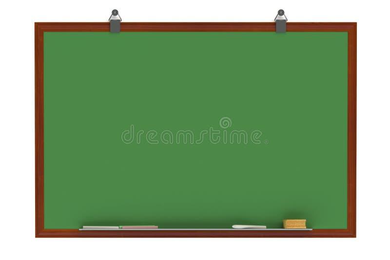 Grön Blackboard stock illustrationer