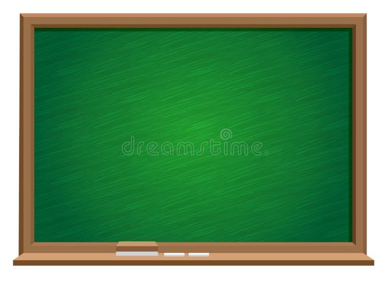 Grön Blackboard royaltyfri illustrationer
