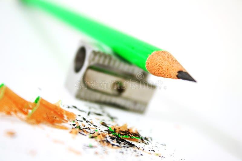grön blyertspenna royaltyfri foto