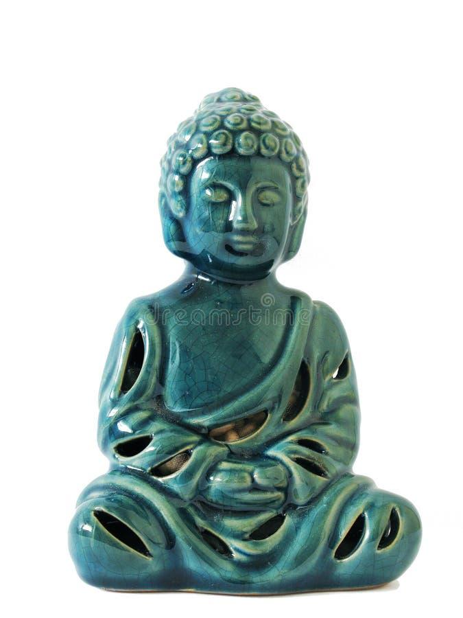 Grön Cermanic Buddha arkivfoto