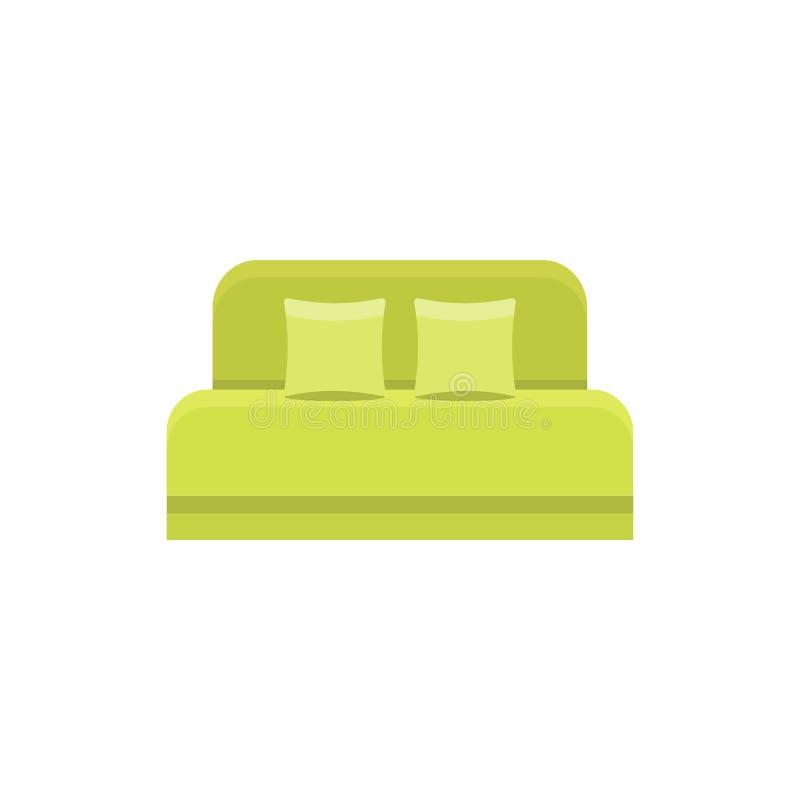 Grön daybed med 2 kuddar och huvudgavel bekväm sofa Vec royaltyfri illustrationer