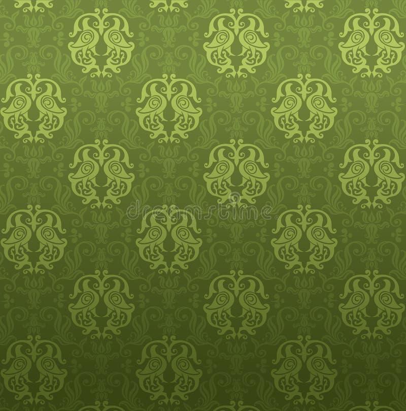 grön dekorativ modell stock illustrationer