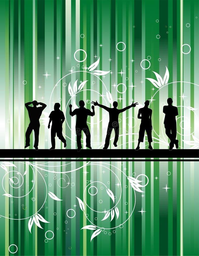 grön deltagare för bakgrund royaltyfri illustrationer