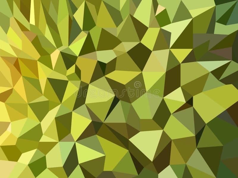 Grön design för vektor för bakgrund för Durianpeel lågt poly abstrakt royaltyfri illustrationer