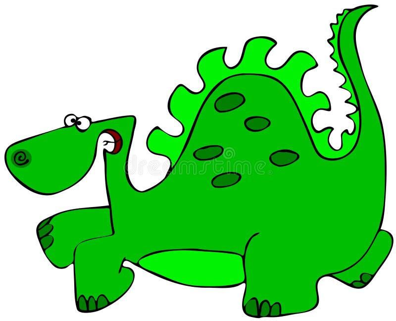 Grön Dinosaur vektor illustrationer
