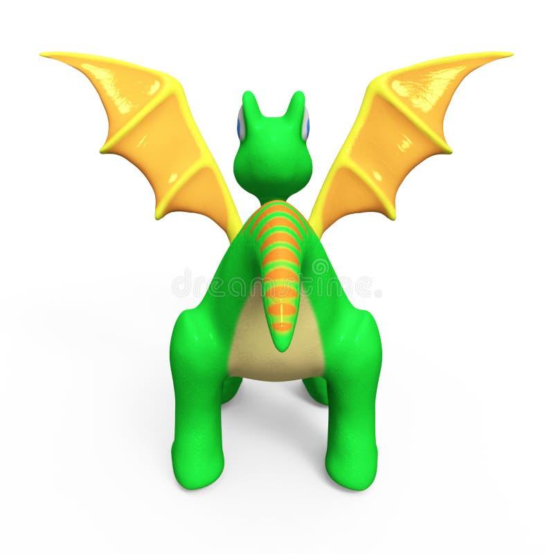 grön drake little royaltyfri illustrationer