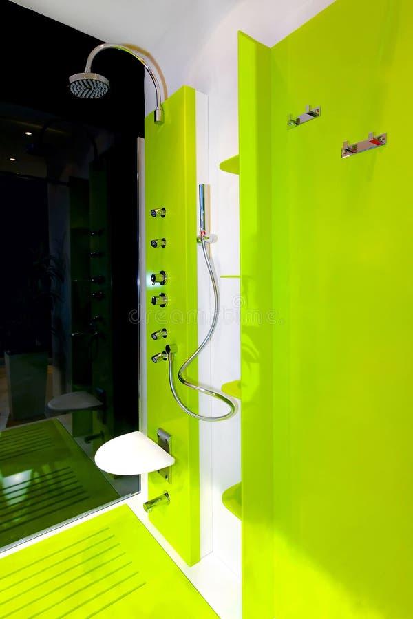 grön dusch arkivbild