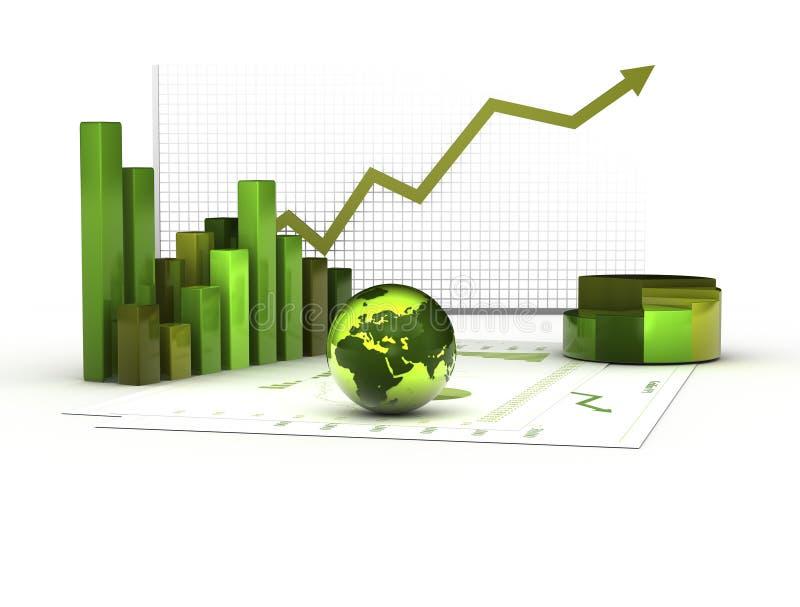 Grön ekonomi stock illustrationer