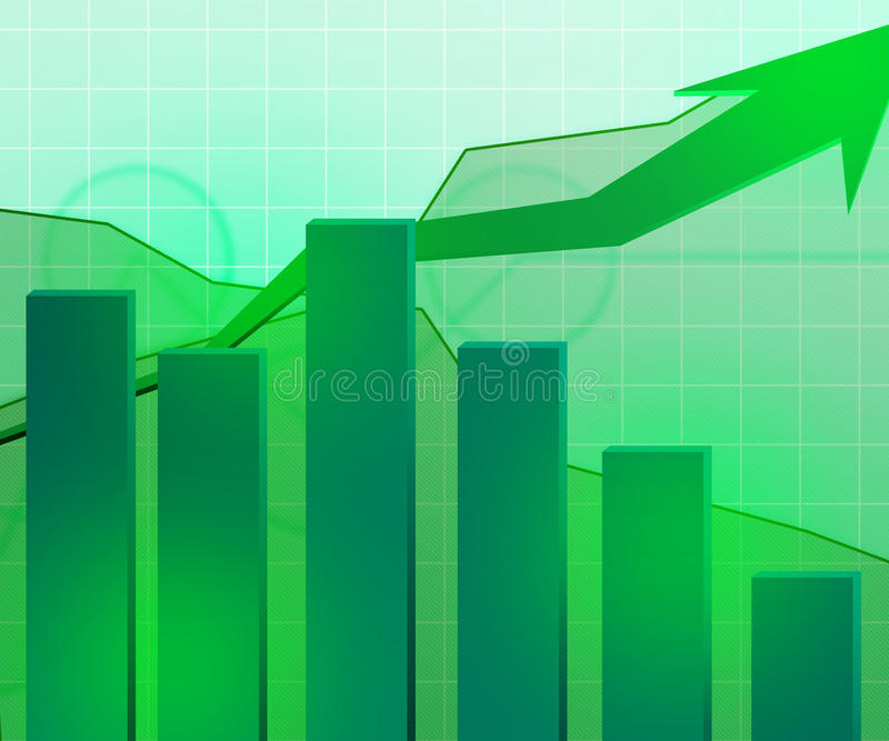 Grön ekonomisk tillväxtbakgrund royaltyfri illustrationer