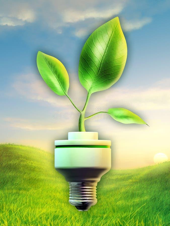 Grön energi royaltyfri illustrationer