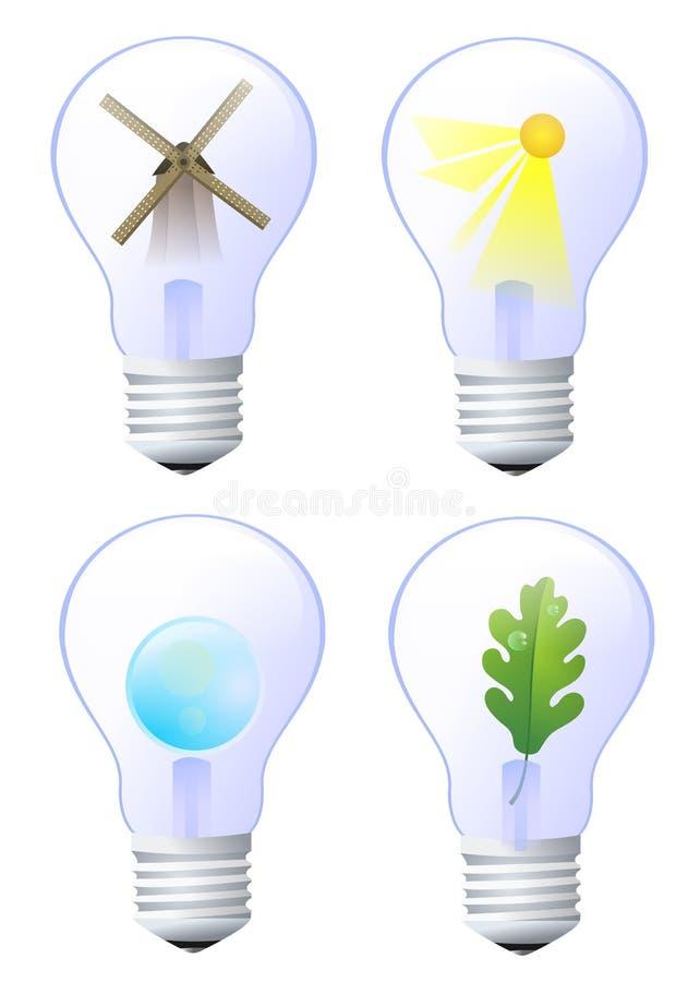 Grön energi stock illustrationer