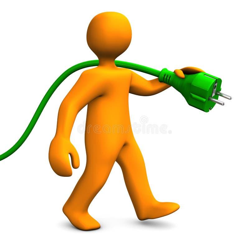 Download Grön energi går stock illustrationer. Illustration av kontaktdon - 27287560