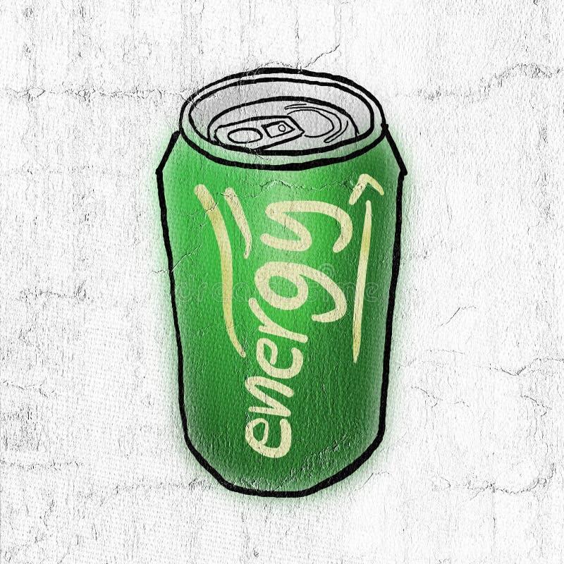 Grön energi kan royaltyfri illustrationer