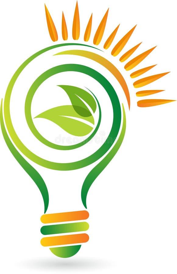 Grön energilampa royaltyfri illustrationer