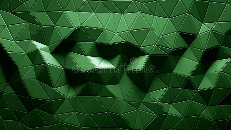 Grön färg för abstrakt Polygonal geometrisk bakgrund royaltyfri illustrationer