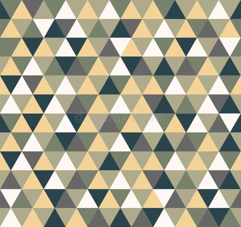 Grön färg för triangelbakgrund royaltyfri illustrationer