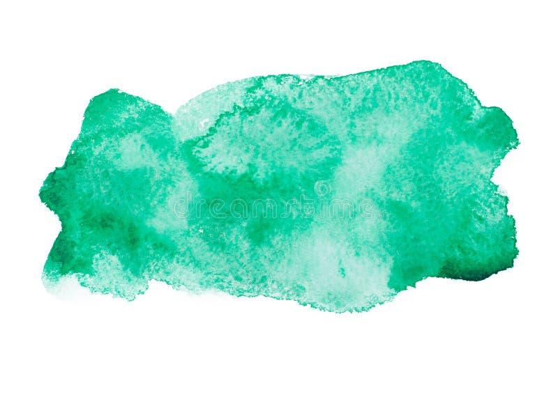 Grön färgrik abstrakt handattraktionakvarell royaltyfri bild