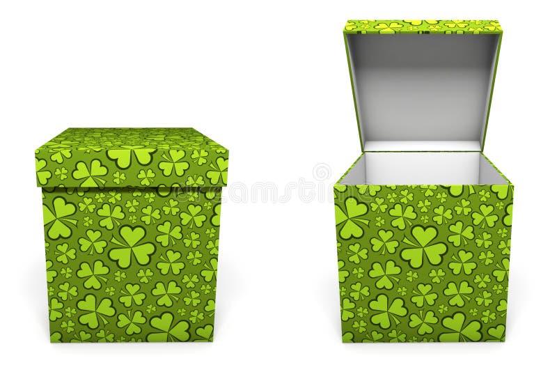 Grön för daggåva för St Patricks ask stock illustrationer