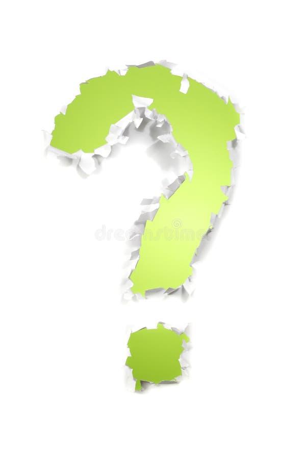 grön fråga royaltyfri foto