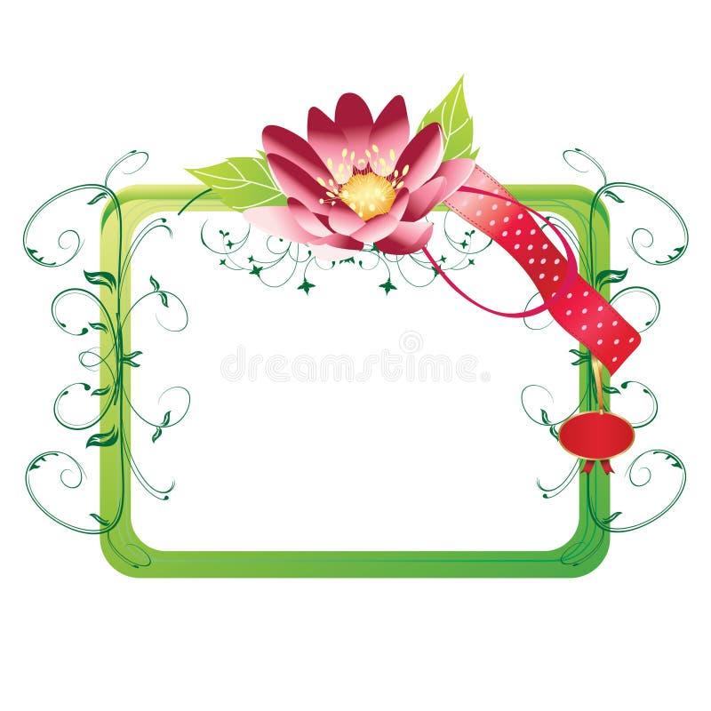 grön fyrkant för ram stock illustrationer
