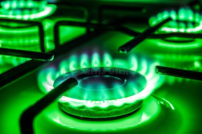 Grön gas arkivfoton