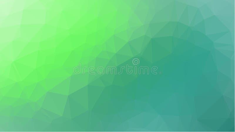 Grön geometrisk bakgrund med triangulära polygoner Abstrakt design också vektor för coreldrawillustration royaltyfria foton