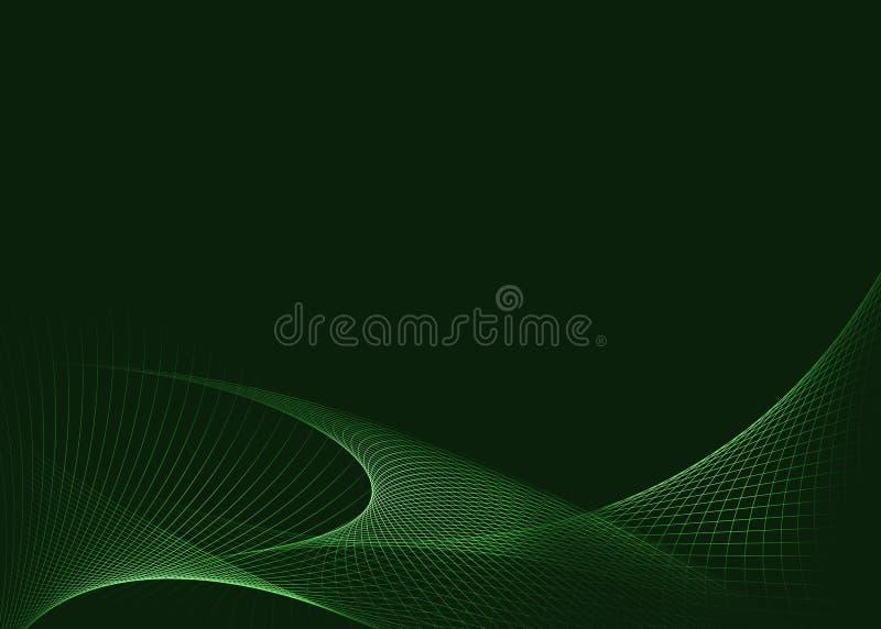 Download Grön glödande bakgrund stock illustrationer. Illustration av glöd - 37345530