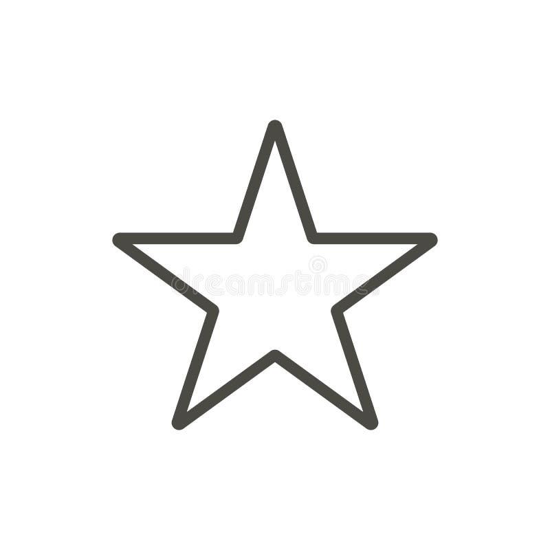 Grön glass stjärna för vektor Översiktsvektor royaltyfri illustrationer