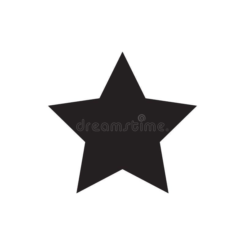 Grön glass stjärna för vektor Favorit- symbol Mest bra vektorbeståndsdel som isoleras på vit bakgrund stock illustrationer