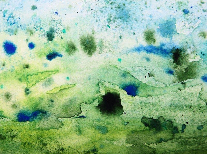 Grön grungepappersbakgrund fotografering för bildbyråer