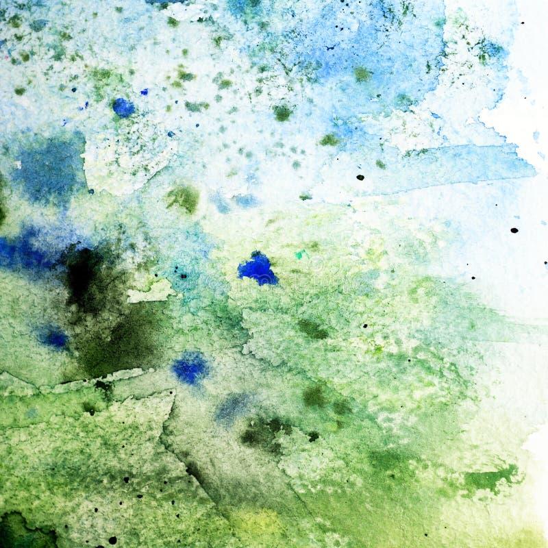 Grön grungepappersbakgrund arkivbild