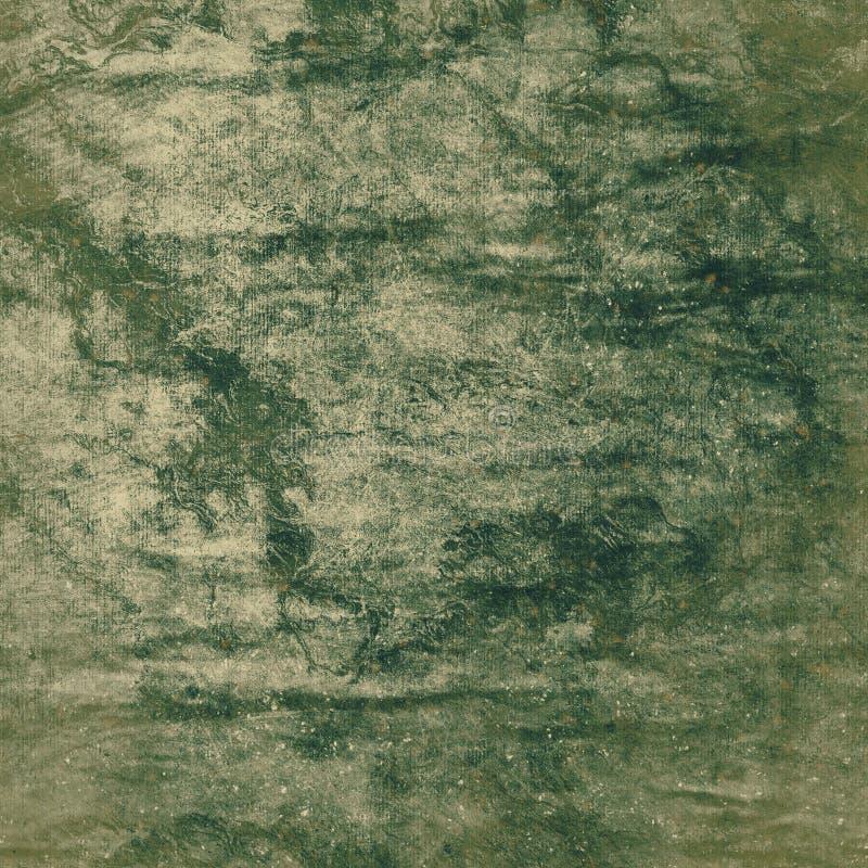 Grön grungepapperstextur vektor illustrationer