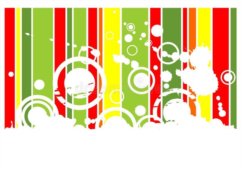 grön grungered för bakgrund stock illustrationer