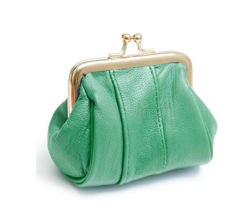 grön handväska royaltyfria bilder
