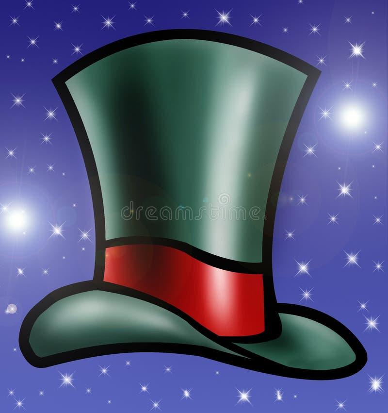 grön hattöverkant stock illustrationer