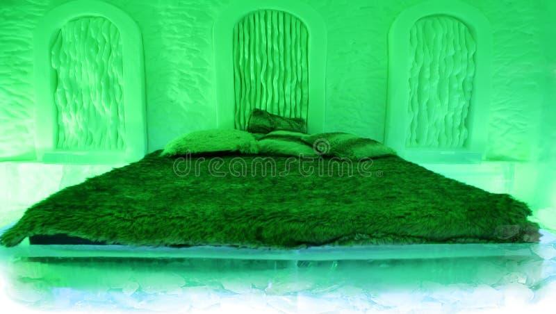 grön hotellislokal royaltyfri bild