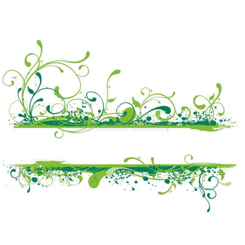 grön illustration för baner vektor illustrationer