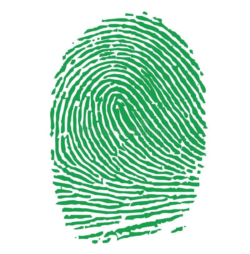 grön illustration för fingeravtryck stock illustrationer