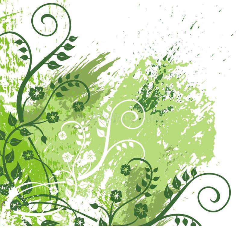 grön illustration för lövverk stock illustrationer