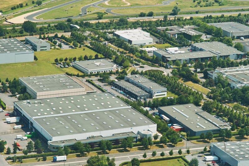 grön industriell zon för miljö royaltyfria foton
