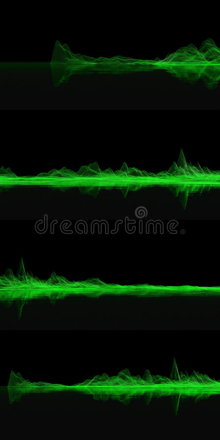 grön ingreppsset vektor illustrationer