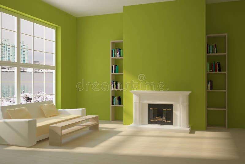 grön interior stock illustrationer
