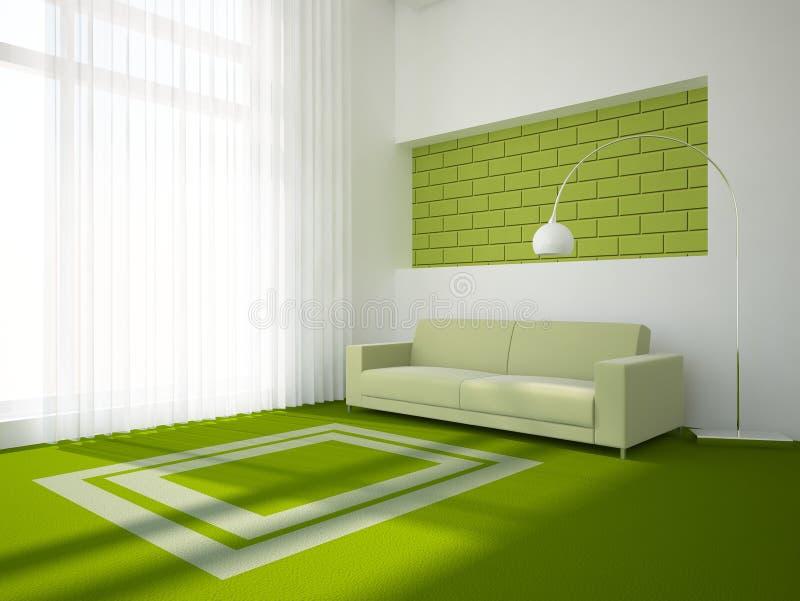 grön interior för begrepp stock illustrationer